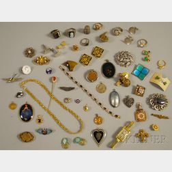 Small Group of Antique and Costume Jewelry