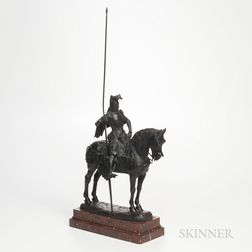 Emmanuel Fremiet (French, 1824-1910)       Bronze Model of a Knight on Horseback