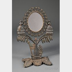 Polychrome-painted Cast Iron Jenny Lind Dressing Mirror