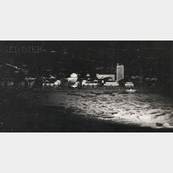 Harold Eugene Edgerton (American, 1903-1990)      Two M.I.T. Night Views:  M.I.T. WINTER
