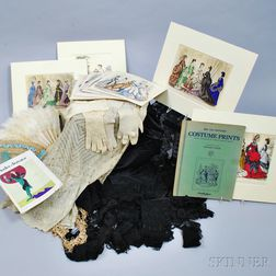 Group of Lace Items and Accessories