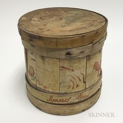 Peter Hunt-style Paint-decorated Firkin