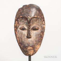Bwami Society Carved Wood Lega Mask