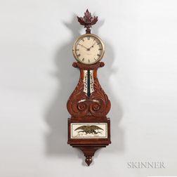 Elisha C. Durfee Mahogany Lyre Clock