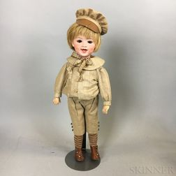 Heubach Bisque 5636 Laughing Boy Character Doll
