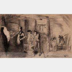 James Abbott McNeill Whistler (American, 1834-1903)      The Forge