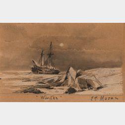Edward Moran (American, 1829-1901)      Winter