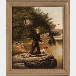 Thomas J. Hill (New York, 19th Century)      Boys Fishing