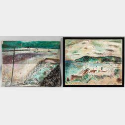 Edwin Avery Park (American, 1891-1978)      Two Coastal Scenes: South Point