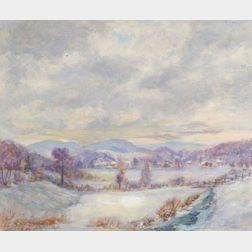 Arthur B. Wilder (American, 1857-1945)    Vermont Winter