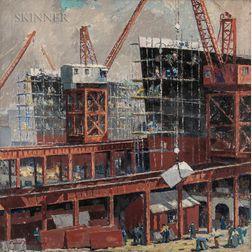 Carroll Thayer Berry (American, 1886-1978)      Bath Iron Works
