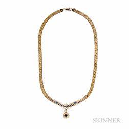 14kt Gold Gem-set Necklace