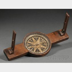 Newell & Son Walnut Surveying Compass