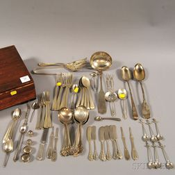 Group of Assorted Coin and Sterling Silver Flatware