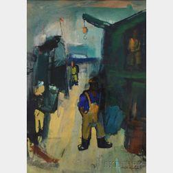 Joseph Kaplan (Russian/American, 1900-1982)      Dock Worker.