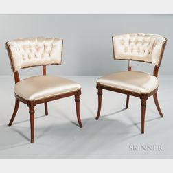 Pair of Art Moderne Klismos-style Side Chairs