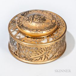 Tiffany Studio Grapevine Pattern Inkwell