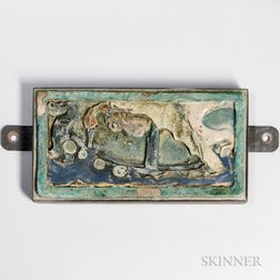 Russell Crook Viking Ship Architectural Tile