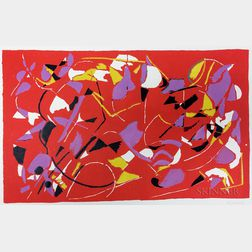 Two Unframed Abstract Prints:      Gérard Ernest Schneider (Swiss, 1896-1986),   Abstract in Yellow and Black