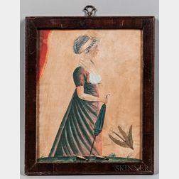 Jacob Maentel (Pennsylvania/Maryland/Indiana/Germany, 1763-1863)      Portrait of Catharine Cuthbert Grumbine
