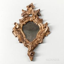Gilt Carved Rococo Mirror