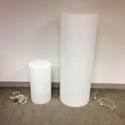 Two Intrex Plastic Cylinder Lamps