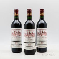 Chateau Cos dEstournel 1989, 3 bottles