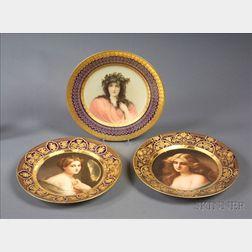 Three Vienna Porcelain Cabinet Plates