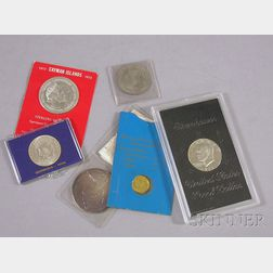 Six Gold and Silver Collectible Coins