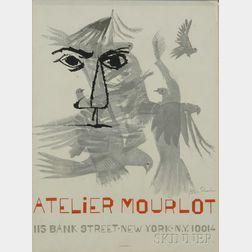 Ben Shahn (American, 1898-1969)      Atelier Mourlot  /An Exhibition Poster