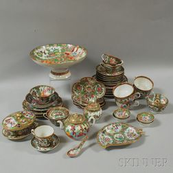 Approximately Forty-two Pieces of Mostly Rose Medallion Porcelain