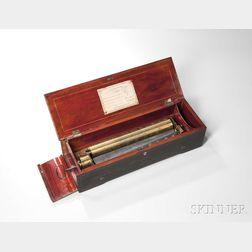 A. Malignon Key-wind Cylinder Musical Box