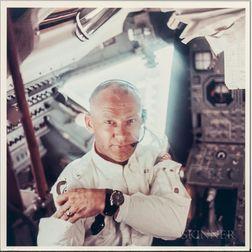 Apollo 11, Astronaut Edwin E. Aldrin Jr. During the Lunar Landing Mission (NASA AS11-36-5390), July 20, 1969.