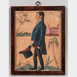 Jacob Maentel (Pennsylvania/Maryland/Indiana/Germany, 1763-1863)      Portrait of Peter Grumbine