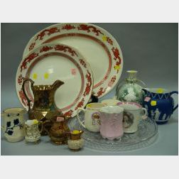 Twelve Assorted English and European Ceramic Pitchers, Mugs and Platters