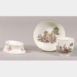 Two Meissen Porcelain Table Articles