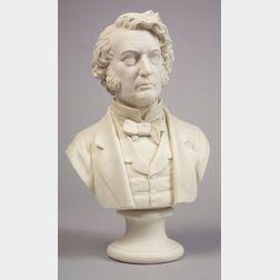 Parian Bust of  Charles Sumner