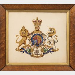 British School, 19th Century      British Royal Coat of Arms