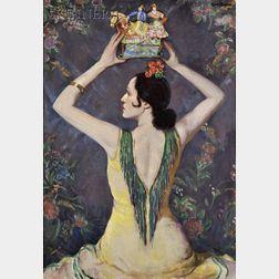 Louis Kronberg  (American, 1872-1965)      Souvenir of Valencia