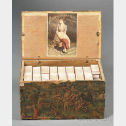 William H. Weston Paper-covered Box with Apothecary Items