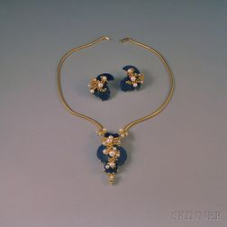 Grosse 18kt Gold, Lapis Lazuli, and Pearl Suite