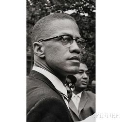 Malcolm X (1925-1965) Fourteen Photographs Taken by Robert Haggins (1922-2006)