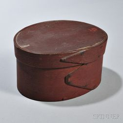 Large Red-painted Pantry Box
