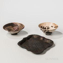 Three Pieces of Makoto Yabe (1947-2005) Studio Pottery