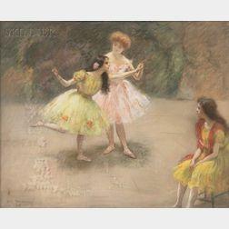 Louis Kronberg (American, 1872-1965)      Dancers in Rehearsal