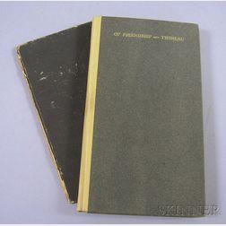 (Thoreau, Henry David (1817-1862), two titles