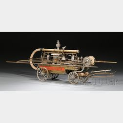 Working Model of the Hand-Drawn and Hand-Pump Engine Red Jacket