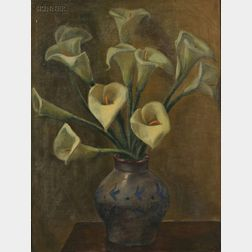 Mexican School, 20th Century      Alcatraces   [Calla Lilies]