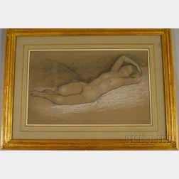 William McGregor Paxton (American, 1869-1941)      Reclining Nude.