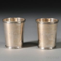 Two Coin Silver Mint Julep Cups